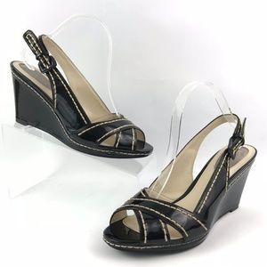 Nickels Roxanne Women's Slingback Wedge Heels 9.5M